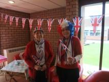 MU members in fancy dress for the Queen